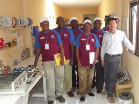 electronic load controller manufacturer Trainees from Tanzania in our Office