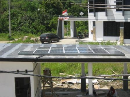 electronic load controller manufacturer Off grid 2 kWp Solar power, Sulawesi