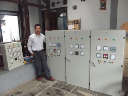 electronic load controller manufacturer 2x150 kW ELC and synchronizer, Papua
